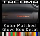 Toyota Tacoma Color Matched Glove Box Inserts Vinyl Decals 2016-2020