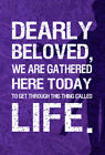 Prince Dearly beloved inspired quote poster art print A2 &A3 available