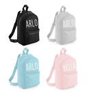 Personalised Mini Toddler Kids Childs Back Pack Girls Boys Back To School New
