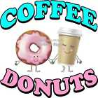 Coffee Donuts DECAL (Choose Your Size) Food Truck Sticker Concession