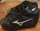 MIZUNO 9 SPIKE VINTAGE PRO MID BASEBALL CLEATS FB44MBK BLACK-SILVER