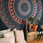Indian Mandala Bedspread Hippie Tapestry Twin Wall Hanging Throw Room Decor Art