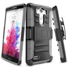 For LG G3 D850 D855 LS990 Heavy Duty Hybrid Rugged Armor Impact Stand Case Cover