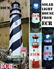 BRAND NEW BRITISH OUTDOOR ROTATING SOLAR LIGHT HOUSE GARDEN ORNAMENT LIGHTHOUSE