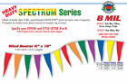 """Pennant Flag Streamers Multi Color 110' (80 6""""x18"""" Pennants Per String)"""