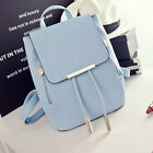 Fashion Women Girls PU Leather Backpack Travel School Handbag Clutch Bag US