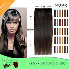 extension clip capelli veri 50 55 cm 100 naturali easy20 socap human remys hair