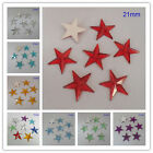 21MM Five Star Flat Back Acrylic Diamond Loose Rhinestone Scrapbook DIY Craft