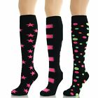 Womens Ladies Girls Knee High Long Star Patterned Socks Lot New