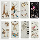 Luxury 3D Rhinestone Crystal Bling PU Leather Wallet Filp Stand Phone Case Cover