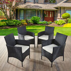 Rattan 3 Chairs and Table Garden Furniture Set Patio Conservatory Outdoor