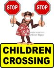 Children Crossing DECAL (Choose Your Size) Monkey food Truck Concession Sticker