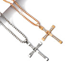 Kyпить Cross Pendant Necklace Silver Stainless Steel Unisex's Chain Crucifix Men Women на еВаy.соm