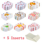 5 Cloth Diapers + 5 Inserts Reusable Baby Newborn lovely Diaper Cover Adjustable