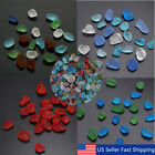 Lot Sea Beach Glass Beads Mixed Colors Bulk Blue Green Red Jewelry Pendant Decor
