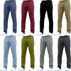 Mens Designer Trousers Chinos Stretch Skinny Slim Fit Pants All Waist Sizes New <br/> Enzyme Silicon Washed | Extra Soft &amp; Comfortable
