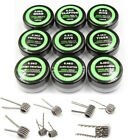 EP_ 10Pcs Alien Quad Twisted Fused Tiger Hive Vape Prebuilt Coil Heating Wire Sw