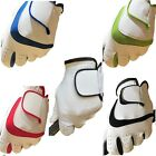 White MENS LADIES Golf Gloves LEFT RIGHT Hand Black,Blue,Red,Green FULL LEATHER!