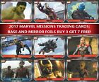 Topps MARVEL MISSIONS Attax choose your base and mirror cards - buy 3 get 7 free