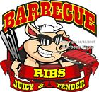Barbecue BBQ Ribs DECAL (Choose Your Size) Food Truck Concession Sticker