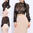 Women's Round Neck Cold Shoulder Blouse Summer Tulle Loose Casual T-shirt Tops