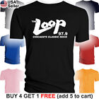 THE LOOP T-Shirt Chicago's Classic Rock 97.9 FM Radio Station 98 RIP R.I.P Music image