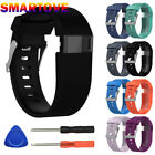 black mageweave set - Black Replacement Wristband Band Strap Tool Kit for Fitbit Charge HR Small/Large