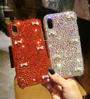 Girl's Luxury Bling Diamond Crystal Bowknot Case Cover for Samsung S7 S8 S9 Plus