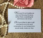 25-50 WEDDING GIFT MONEY POEM SMALL CARDS ASKING FOR MONEY CASH FOR INVITATIONS