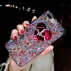 Fashion Bling Sparkle Glitter Love Soft Gel Case Cover For iPhone X 6S 7 8 Plus