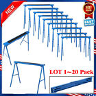 New 2 Pack Heavy Duty Saw Horse Steel Folding Legs Portable Sawhorse Pair LOT