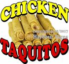 Chicken Taquitos DECAL (CHOOSE YOUR SIZE) Food Truck Sign Restaurant Concession