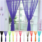 Voile Divide Curtain Drape Home Window 13 # Scarf Color 1.2*2m Door Panel Sheer