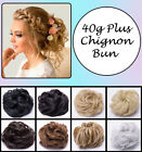 40 hair extensions - Curly Twirl 100% Real Thick Hair Extensions Hairpiece Bun Updo Scrunchie Brown A