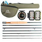 Maxcatch 5/6WT Travel Fly Fishing Combo, 9FT 7Piece Fly Rod,Fly Reel,Line Outfit