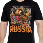 t-shirt with Russian bear T-Shirts russia putin military cult Men's Clothing
