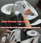 Glossy Silver Mirror Chrome Tape Film Vinyl , Car Home decoration Bubble Free