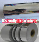 Glossy Silver Mirror Chrome Tape Film Vinyl , Car Home decoration 1.2inch Wide
