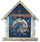 Rustic Time Large Cabin LED Lighted Clock *** Handmade *** Large Wall Clock