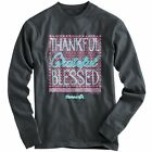"REDUCED!!! ""Thankful"" Kerusso Cherished Girl Adult Grey Long Sleeve T-Shirt"