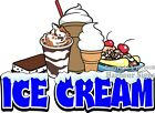 Ice Cream  DECAL (Choose Your Size) Food Truck Concession Sundaes Cones Shakes