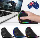 M618 Plus RGB Luminous Wired Vertical Ergonomic Gaming Mouse USB For PC Laptop