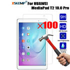 100Pcs Real Tempered Glass 2.5D Screen Protector For HUAWEI MediaPad T2 10.0 Pro