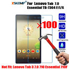 100Pcs Real Tempered Glass 2.5D Screen For Lenovo Tab 7 Essential TB-7304 F/I/X