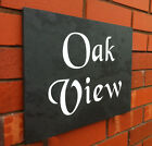 PERSONALISED SLATE HOUSE NAME NUMBER SIGN