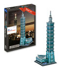 3D paper puzzle assemble model toy Taipei 101 China Taiwan famous building 1pc