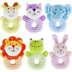 Soft Sound Animal Plush Handbells Squeeze Rattle Toy Developmental Baby Toys
