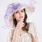 Women 's Formal Wedding Hats Casual Broad-brimmed Hat Fashion Beach Flower Cap