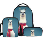 Bag Set of 3 Pcs Girls Alpaca Print School Backpack with Pen Organizer Wholesale