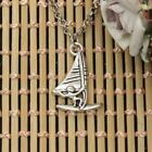Windsurfer Pendant Necklace Surfing Sailing Tibetan Silver Pendant Jewelry